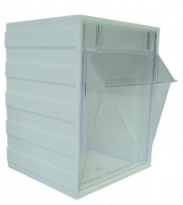 LINK-A-BIN STORAGE SYSTEM - WHITE - SMALL